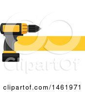 Clipart Of A Power Drill Design Royalty Free Vector Illustration by Vector Tradition SM