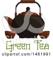 Tea Pot With Cups With Text