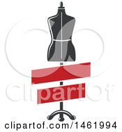 Clipart Of A Mannequin With Blank Banners Royalty Free Vector Illustration by Vector Tradition SM