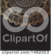Poster, Art Print Of Golden Ornate Mandala Design On Black