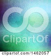 Poster, Art Print Of Mandala Frame On Gradient