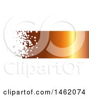 Clipart Of A White Bubble And Gradient Orange Website Header Banner Royalty Free Vector Illustration