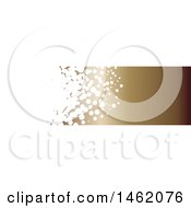 Clipart Of A White Bubble And Gradient Brown Website Header Banner Royalty Free Vector Illustration