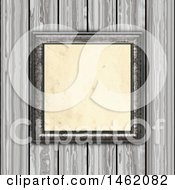 Clipart Of A 3d Blank Picture Frame On A Wood Paneled Wall Royalty Free Illustration