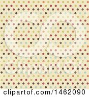 Clipart Of A Distressed Vintage Polka Dot Background Pattern Royalty Free Vector Illustration