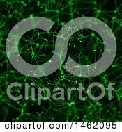 Clipart Of A Green Digital Connections Networking Background Royalty Free Illustration