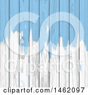 Poster, Art Print Of Background Of Blue Paint On White Wood