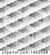 Clipart Of A Grayscale Diagonal Pattern Background Royalty Free Vector Illustration