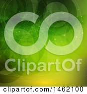 Clipart Of A Green And Yellow Circle Pattern Background Royalty Free Vector Illustration by KJ Pargeter