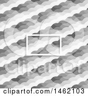Blank Frame Over A Grayscale Diagonal Pattern Background