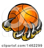 Clipart Of Monster Or Eagle Claws Holding A Basketball Royalty Free Vector Illustration