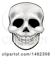Clipart Of A Human Skull Royalty Free Vector Illustration