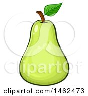 Clipart Of A Green Pear Royalty Free Vector Illustration