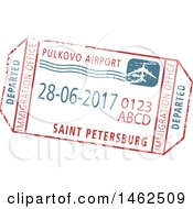 Clipart Of A Passport Stamp Design Royalty Free Vector Illustration