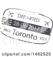 Clipart Of A Passport Stamp Design Royalty Free Vector Illustration by Vector Tradition SM