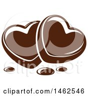 Clipart Of A Chocolate Heart Design Royalty Free Vector Illustration by Vector Tradition SM