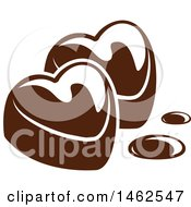 Poster, Art Print Of Chocolate Heart Design