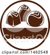 Clipart Of A Chocolate Design Royalty Free Vector Illustration by Vector Tradition SM