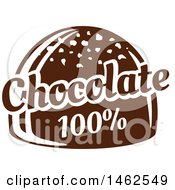Clipart Of A Chocolate Bon Bon And Text Design Royalty Free Vector Illustration by Vector Tradition SM