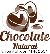 Chocolate Heart And Text Design