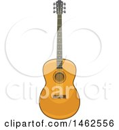 Clipart Of A Guitar Royalty Free Vector Illustration by Vector Tradition SM