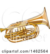 Clipart Of A Tuba Royalty Free Vector Illustration