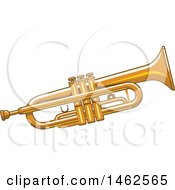 Clipart Of A Trumpet Royalty Free Vector Illustration