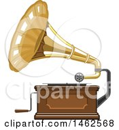 Clipart Of A Phonograph Royalty Free Vector Illustration by Vector Tradition SM