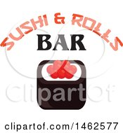 Clipart Of A Caviar Sushi Design Royalty Free Vector Illustration