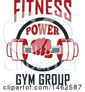 Clipart Of A Dumbbell And Text Design Royalty Free Vector Illustration by Vector Tradition SM