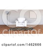 Clipart Of A 3d Minimalist Interior With A Chair Royalty Free Illustration by KJ Pargeter