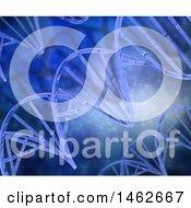 Clipart Of A 3d Medical Background Of Dna Strands Royalty Free Illustration