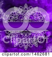 Clipart Of A Purple Watercolor And Mandala Design Background Royalty Free Vector Illustration