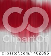 Poster, Art Print Of Red Painted Texture On White Wood Panels