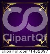 Poster, Art Print Of Golden Border On Purple