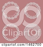 Lace Frames On A Pink Background