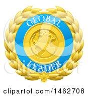 Poster, Art Print Of Global Leader Earth And Laurel Wreath Medal