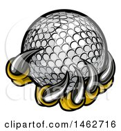 Clipart Of Monster Or Eagle Claws Holding A Golf Ball Royalty Free Vector Illustration