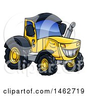 Cartoon Yellow Tractor
