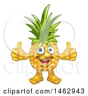 Pineapple Mascot Character Giving Two Thumbs Up