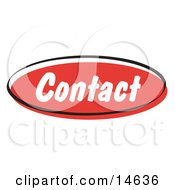Red Contact Internet Website Button Clipart Illustration by Andy Nortnik