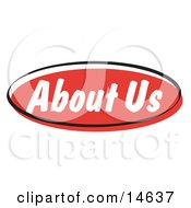 Red About Us Internet Website Button Clipart Illustration by Andy Nortnik