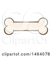 Clipart Of A Dog Bone Royalty Free Vector Illustration by Hit Toon