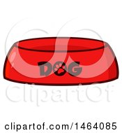 Clipart Of A Dog Bowl Royalty Free Vector Illustration by Hit Toon