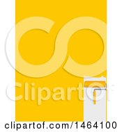 Clipart Of A Roller Paint Brush And Yellow Stroke Background Royalty Free Vector Illustration by elaineitalia
