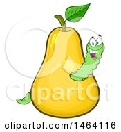 Happy Worm In A Yellow Pear