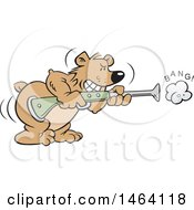 Vector Clipart Of A Bear Shooting A Blunderbuss Gun Bearing Arms Royalty Free Illustration by Johnny Sajem