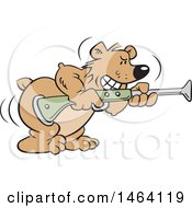 Vector Clipart Of A Bear Aiming A Blunderbuss Gun Bearing Arms Royalty Free Illustration