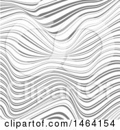 Clipart Of A Warped Wave Background Royalty Free Vector Illustration