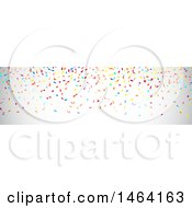 Clipart Of A Party Confetti Website Banner Royalty Free Vector Illustration